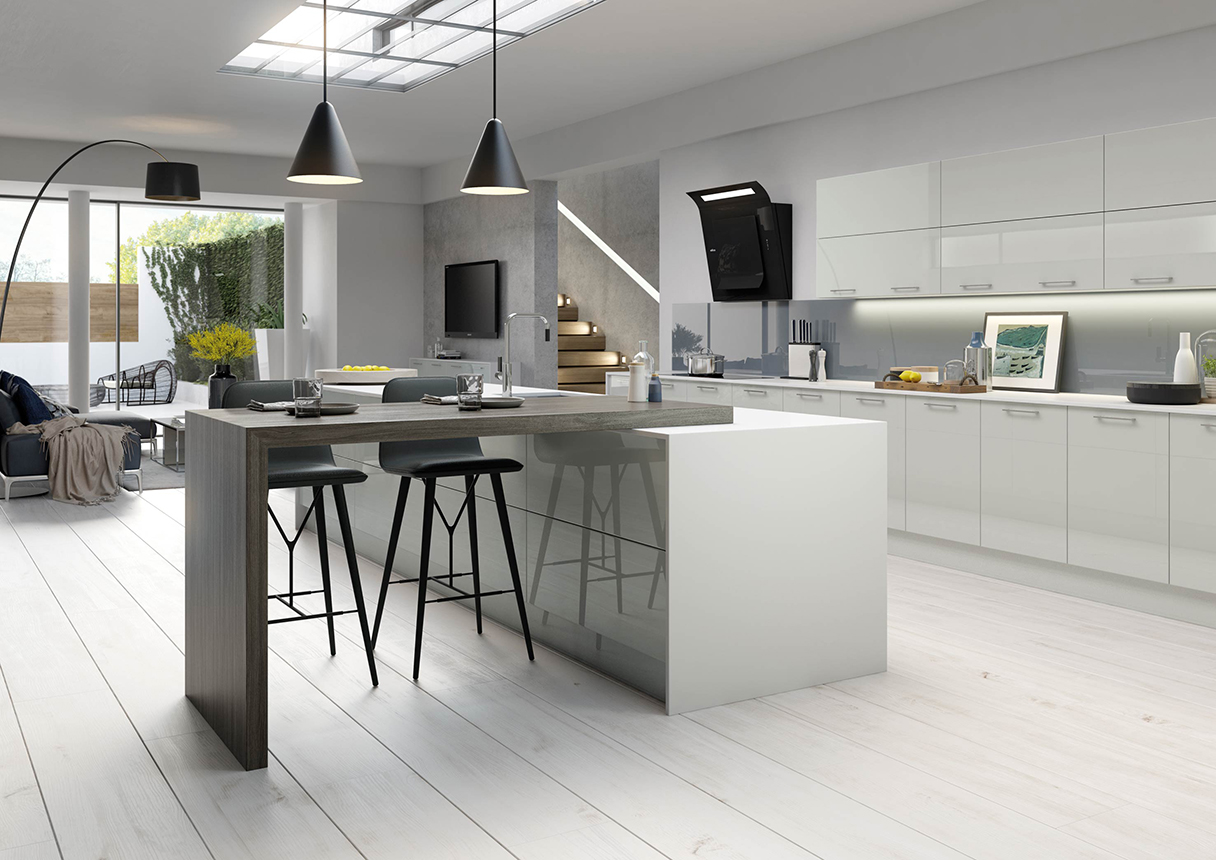 Vivo Light Grey Kitchens