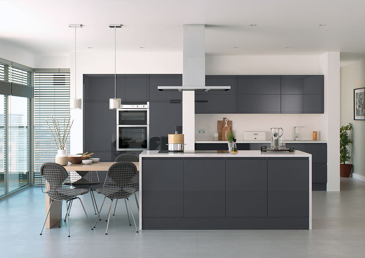 Lucente Anthracite Kitchens