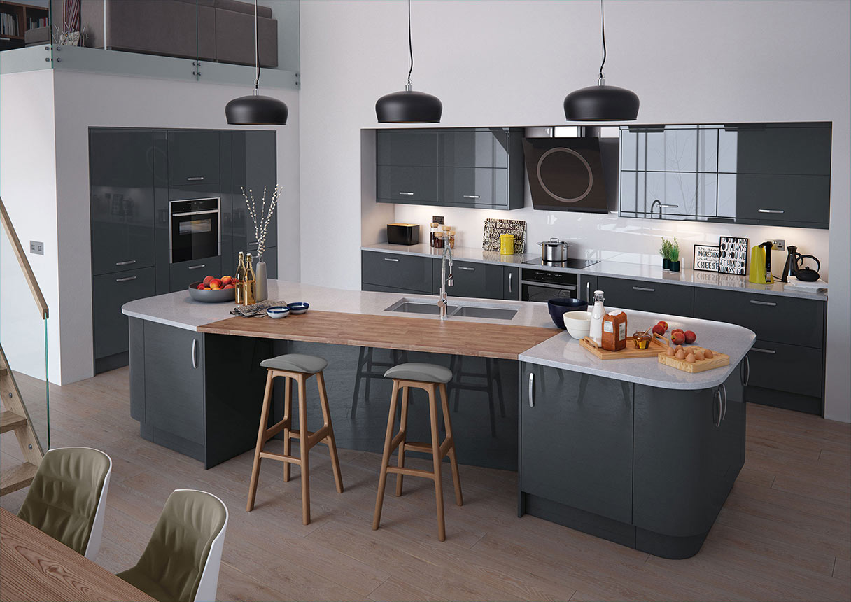 Vivo Anthracite Kitchens